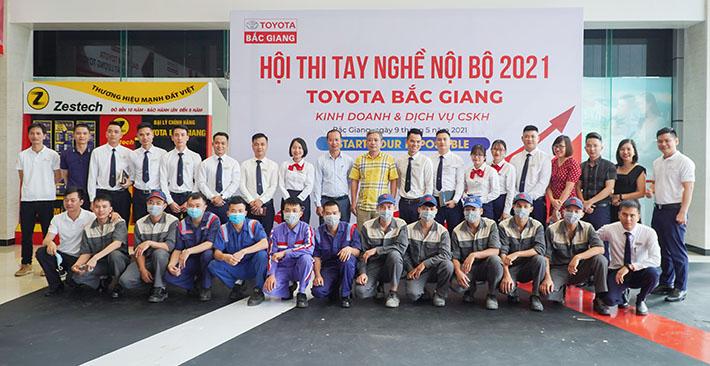 Toyota Bắc Giang tổ chức Hội thi tay nghề nội bộ năm 2021, nâng cao chất lượng đội ngũ nhân viên