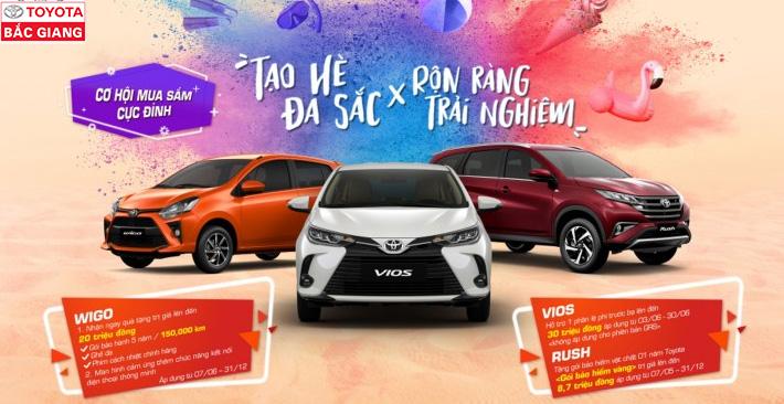 Toyota Bắc Giang - Ưu đãi lên đến 30 triệu đồng cho Vios và 20 triệu đồng cho Wigo