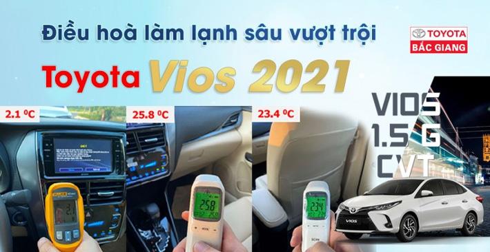 Lý giải vì sao điều hoà Toyota Vios 2021 vượt trội?