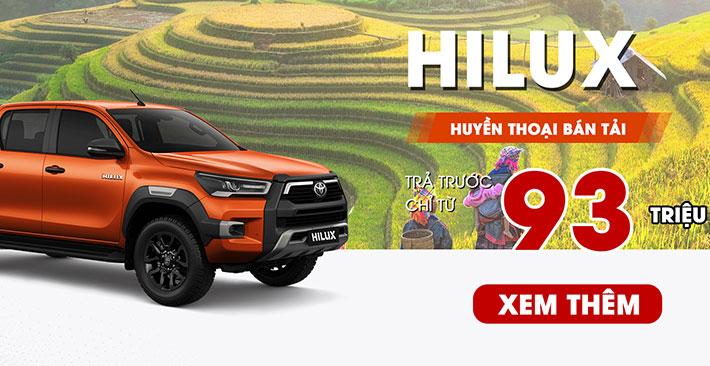 Ưu đãi Hilux tháng 8: Nhận xe chỉ từ 93 triệu đồng
